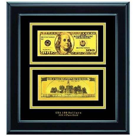 Панно - Банкнота 100$ Золото