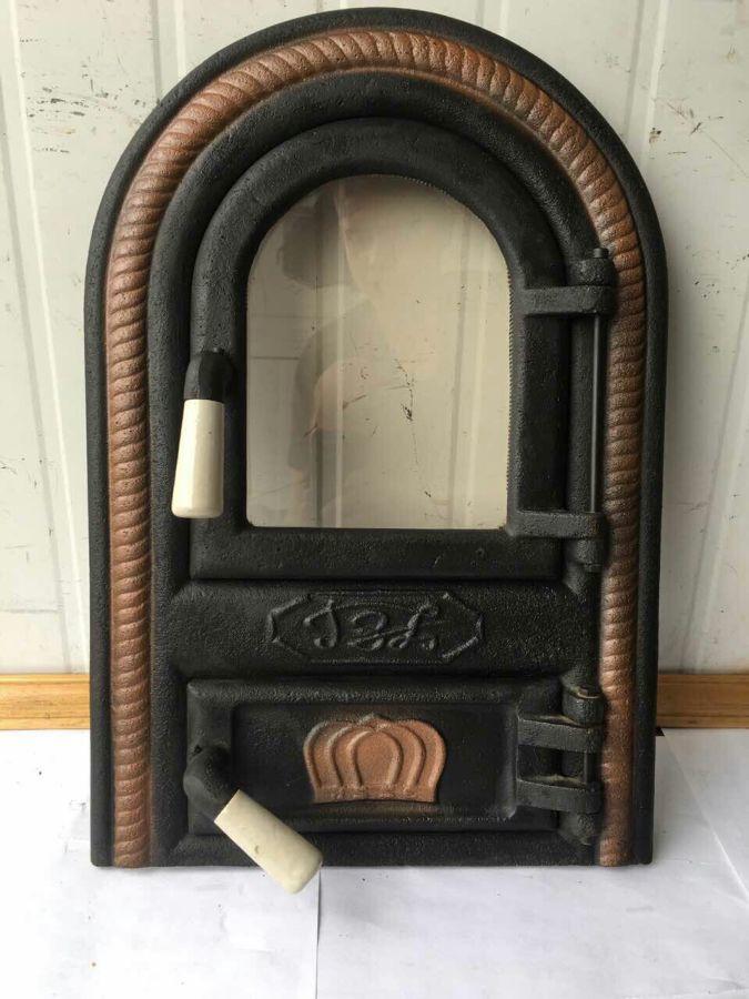 "Дверцята пічні зі склом ""овал"". дверцята для кухні, барбекю"