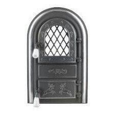 """Дверцята пічні зі склом """"олени хром"""". дверцята для кухні, барбекю"""