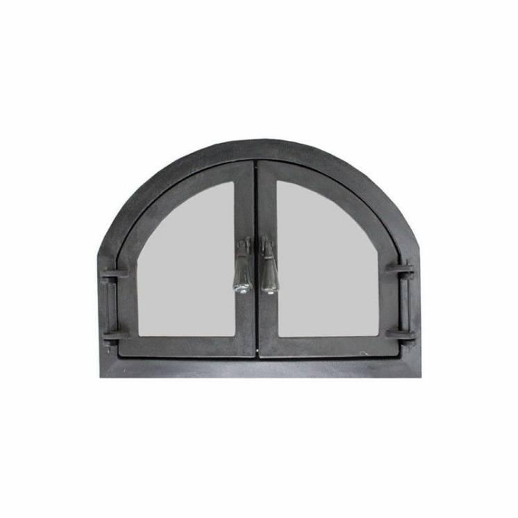 """Дверца для печи и барбекю """" двойные, дверцы печные со стеклом"""