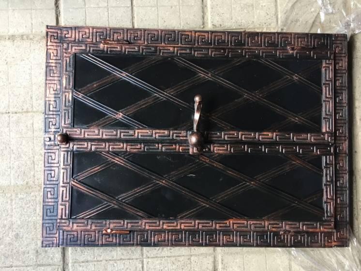 "Дверка под коптилку арка метал ""3"" мм 600х400"
