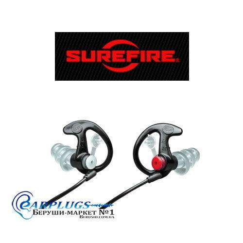 Стрелковые беруши SureFire EarPro EP4 (черный цвет), США.