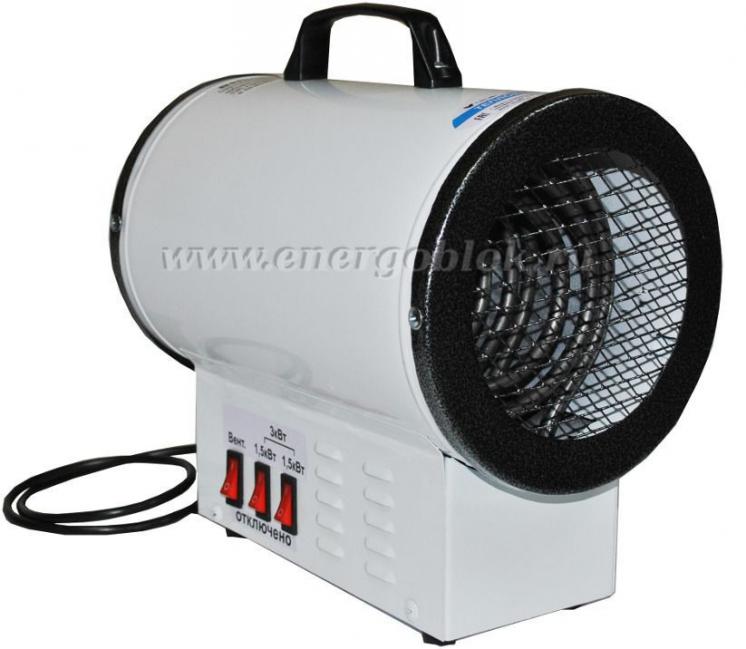 Тепловая пушка-электрокалорифер КЭВП-2/4/6 кВт,