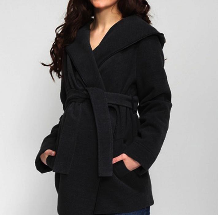Короткое женское пальто -Оч.Красивое, Универсальное, 50%Шерсть р.50-52