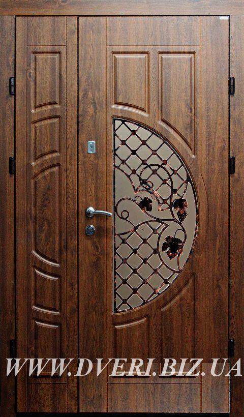 Входная двухстворчатая тёплая дверь в дом с доставкой по Украине