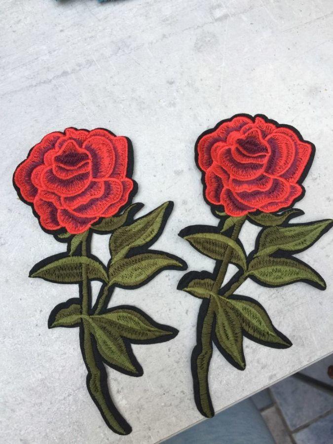 Нашивка патч роза