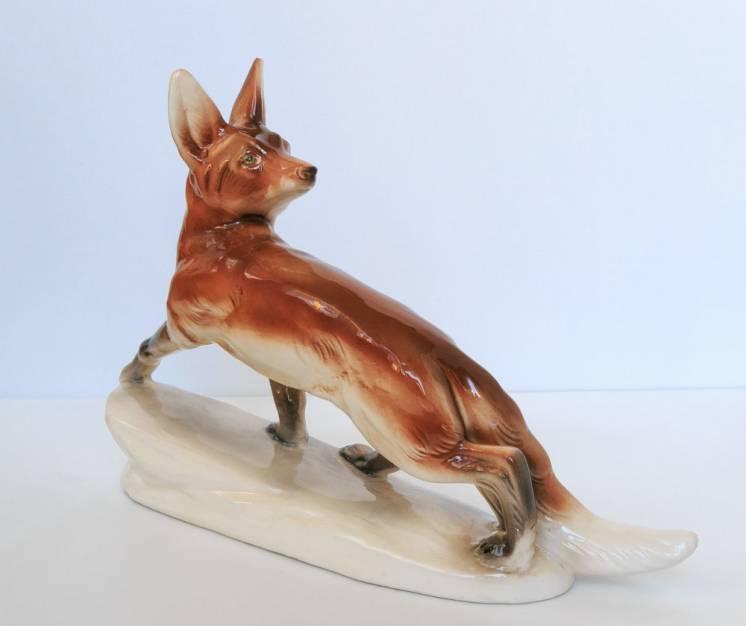 Фарфоровая статуэтка лиса Katzhutte фарфор германия