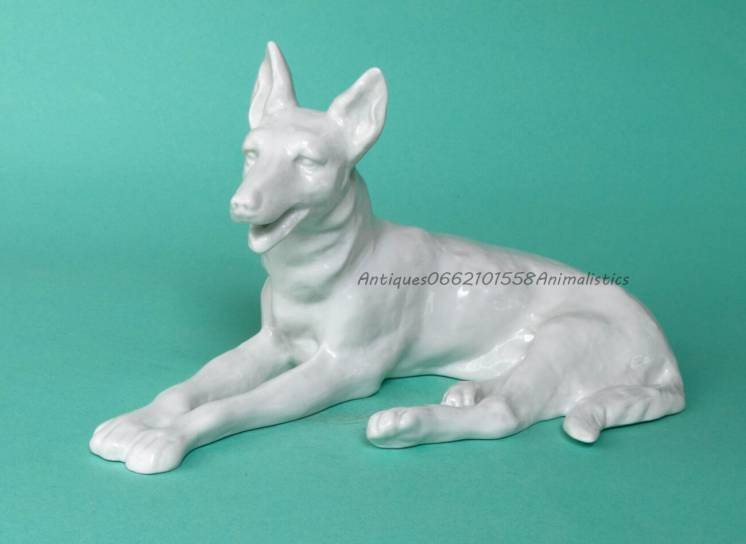 Фарфоровая статуэтка фарфор Собака WALLENDORF Германия Овчарка скульпт