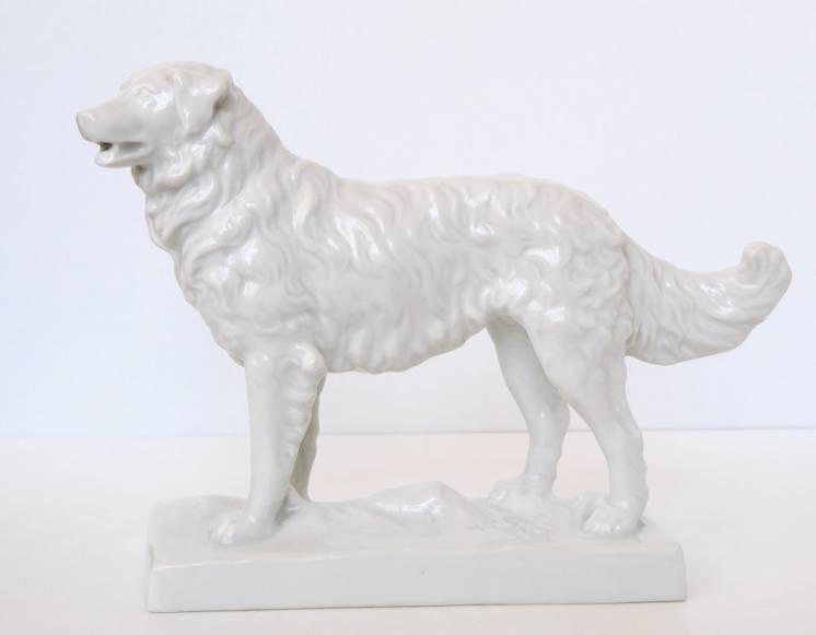 Редкость фарфоровая статуэтка большая собака Herend венгрия 1931 год
