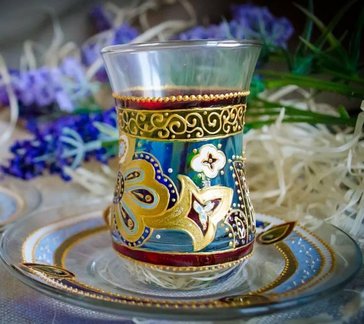 Армуды для чая стаканчики набор витражная роспись