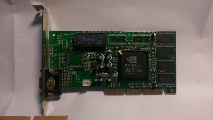 Видеокарта Riva TNT2 32Mb AGP (на базе чипсета nVidia)