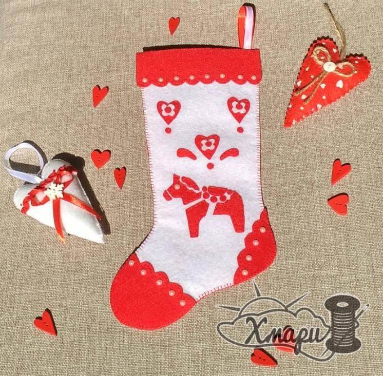 Новогодний сапожок или новогодний носочек