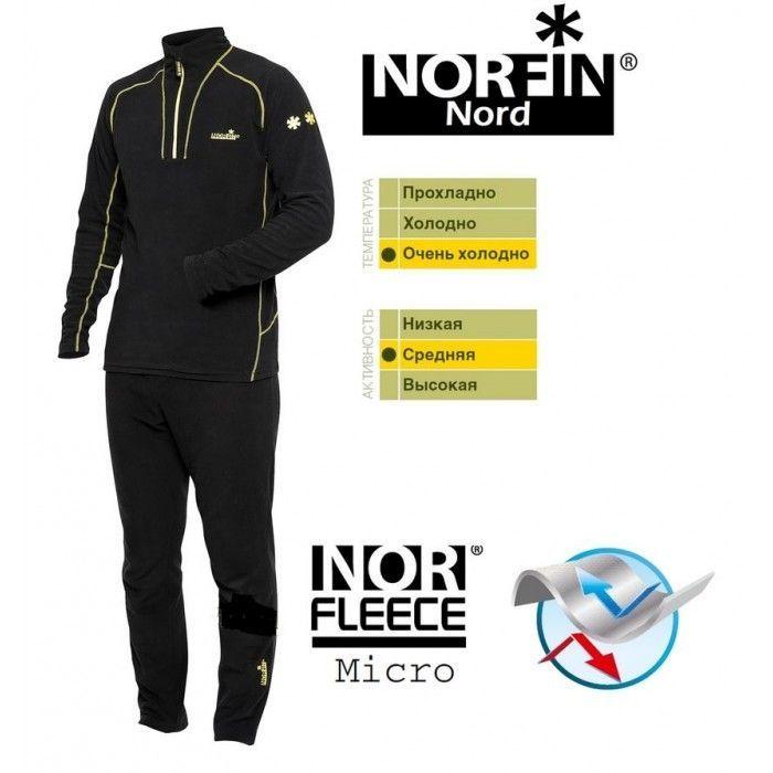 Термобельё микрофлисовое Norfin Nord (от M до XXXL)