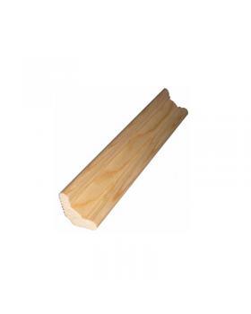 Плинтус напольный деревянный 65 мм 3 м