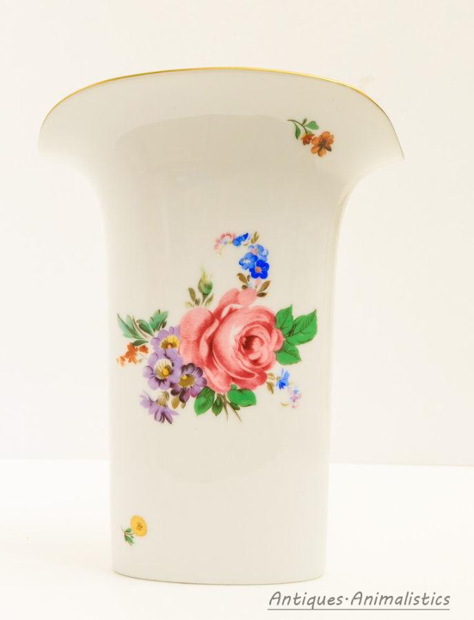 Фарфоровая ваза с цветочным орнаментом германия Hutschenreuther