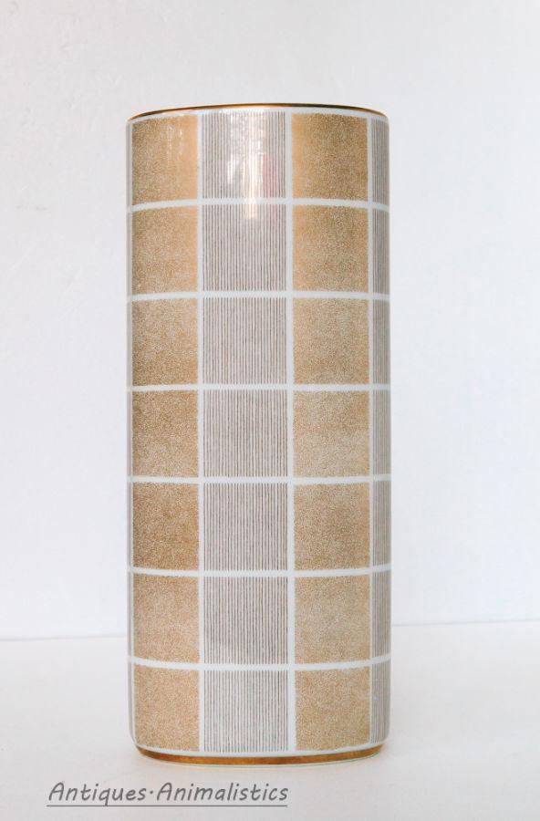Антиквариат! золотая фарфоровая ваза фарфор Hutschenreuther германия