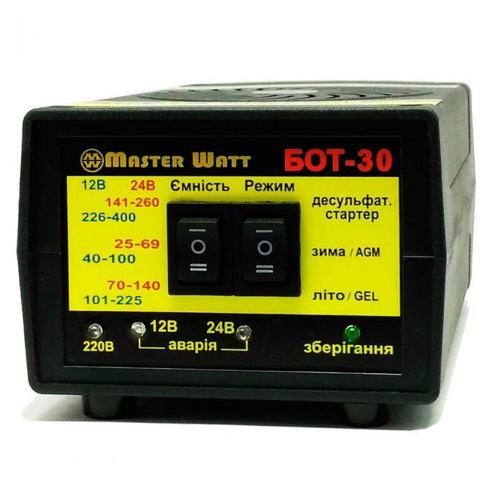 БОТ-30 - десульфатирующее зарядное устройство 12/24В c функцией пуска