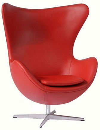Кожаное кресло Эгг с Бесплатной доставкой