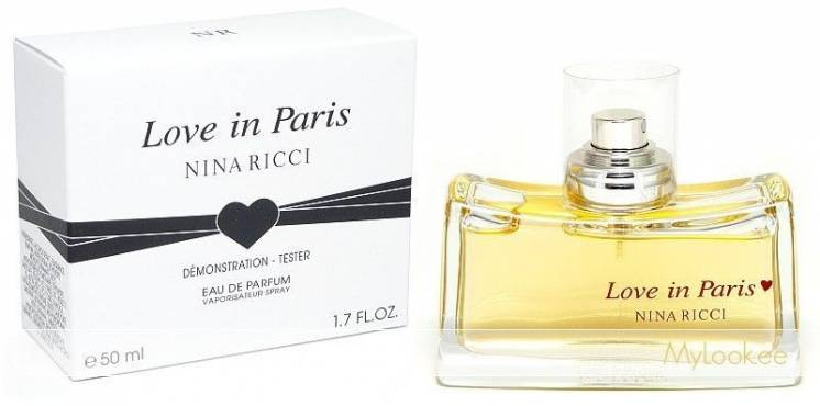 Nina Ricci Love in Paris 50 мл тестер. Женская парфюмированная вода.