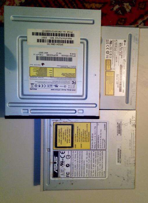 CD/DVD-ROM/-RW IDE-приводы для ПК и SATA/IDE-приводы в ноутбуки