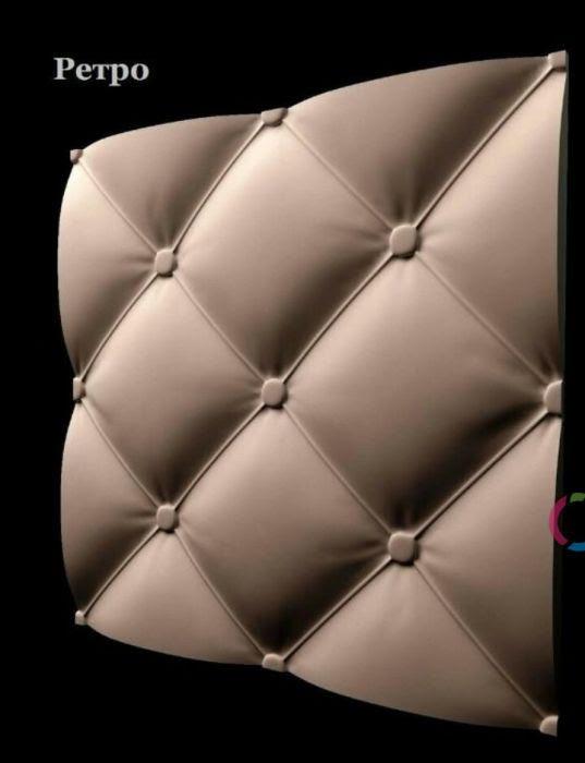 3D панель Италия, рэтро, подушка