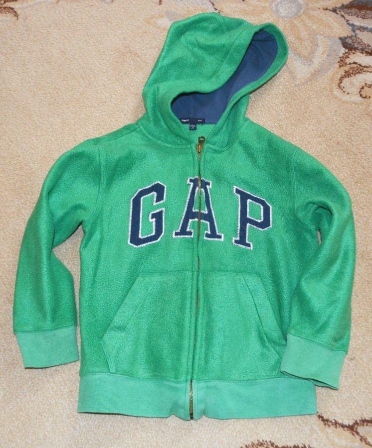 Кофта толстовка   флисовая с капюшоном Gap р. 6-7 лет S