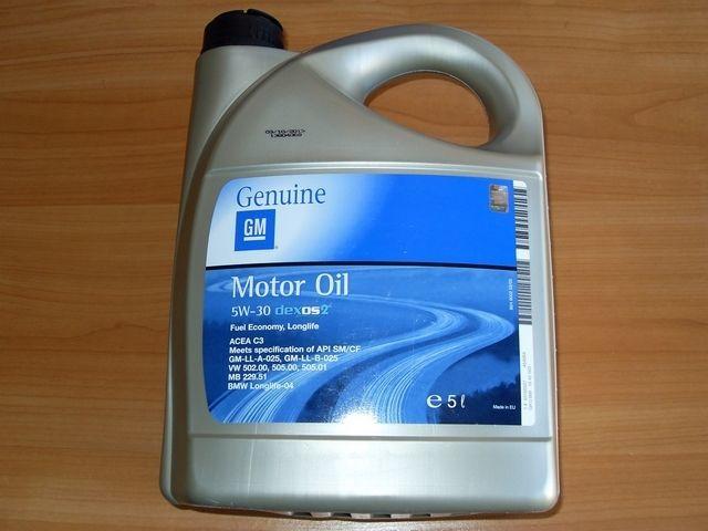 Моторное масло  General  Motors  Dexos   5W30  ( 5 литров )
