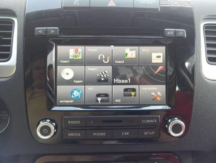 Видеоинтерфейс и навигационный блок для  VW Touareg 2010+ RCD550
