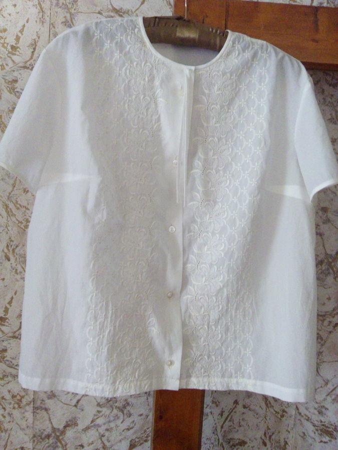 Блузка белая лето(56)