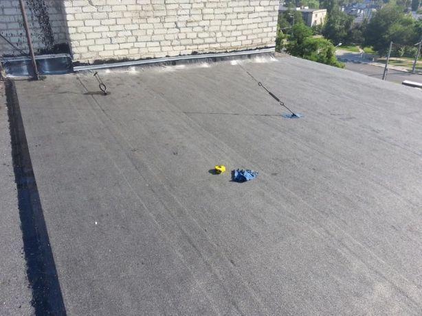 Ремонт мягкой кровли, еврорубероид, ремонт крыши, кровельщики.