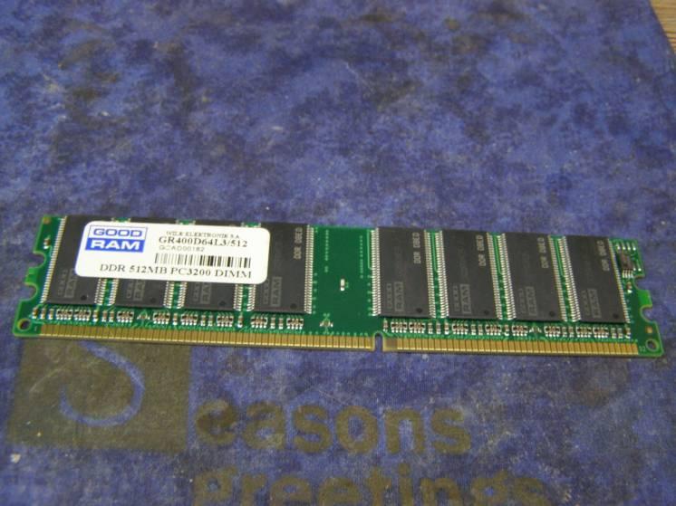 Память DDR PC3200 512Mb DIMM