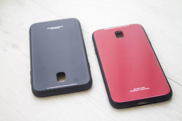 Samsung Galaxy j3 j330 2017 Бампер чехол из закаленного стекла
