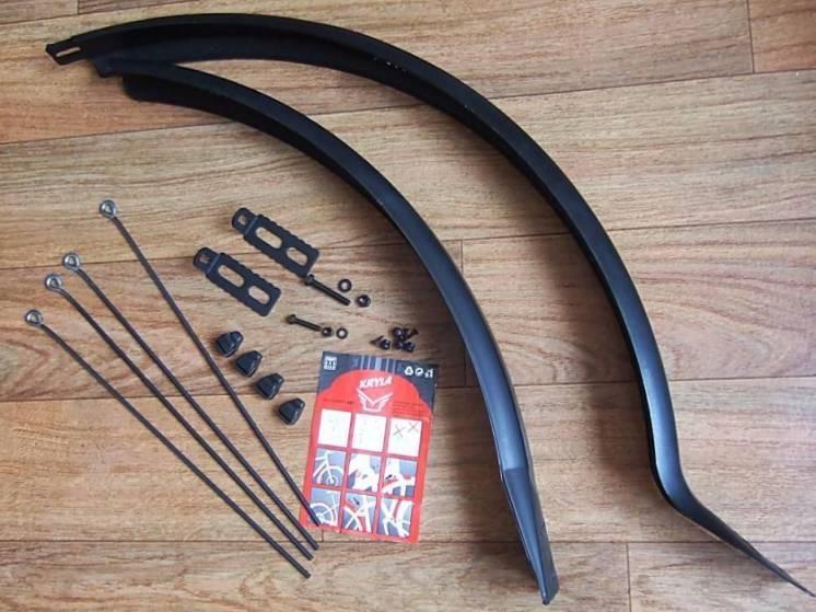 Крыло велосипеда, крылья брызговики, болотники для колеса 27,5 и 28