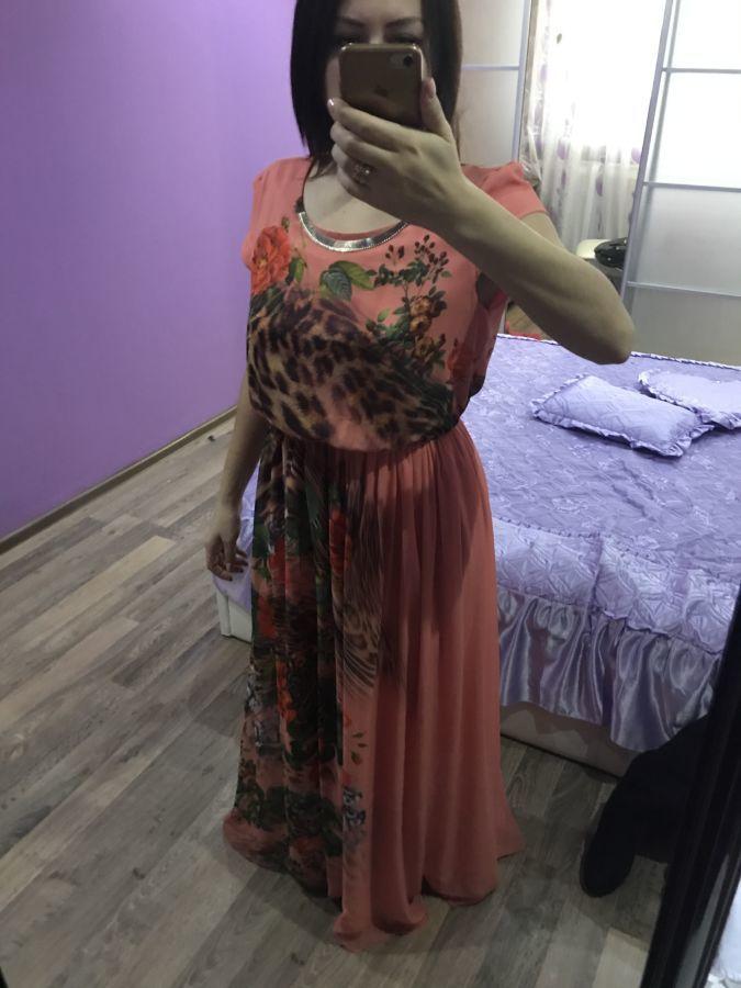 Очень красивое, нарядное, шифоновое платье в пол
