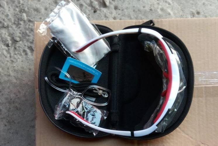 Новые очки ЕОК, 5 линз, поляризация, 2 чехла, большой комплект, белая
