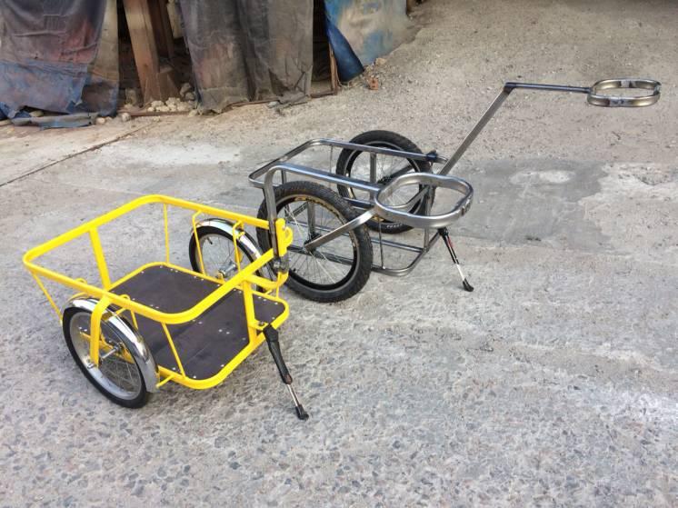 Велоприцеп мини. 16 дюймовые колеса.