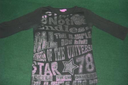 Кофточка футболка на девочку 13-14 лет.