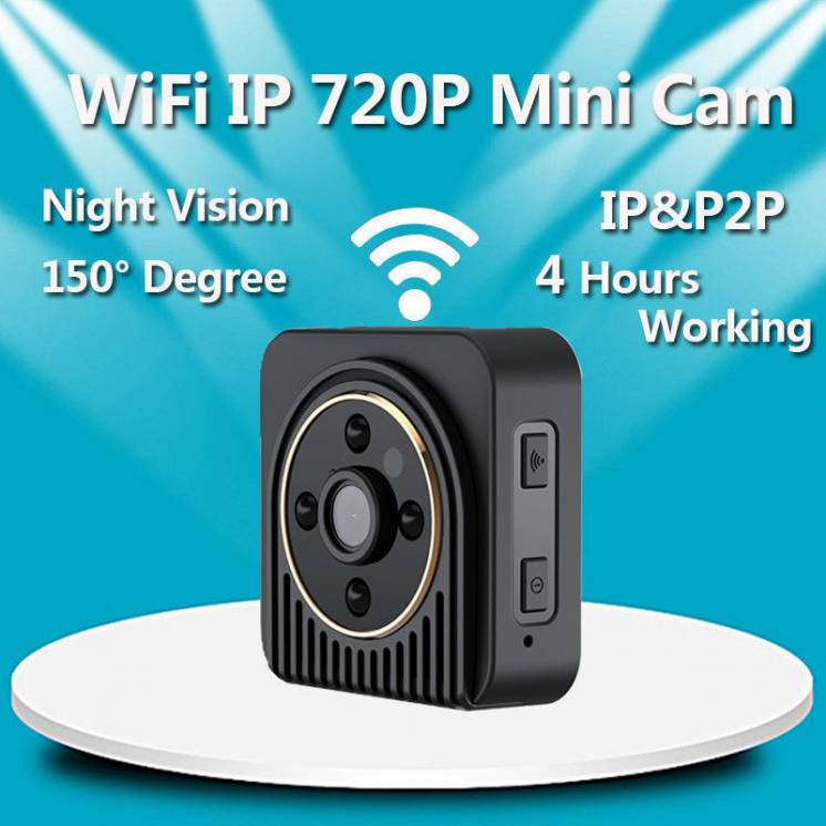 Wifi мини камера Hd Wifi P2p Ip-камера вайфай угол обзора 150 градусов