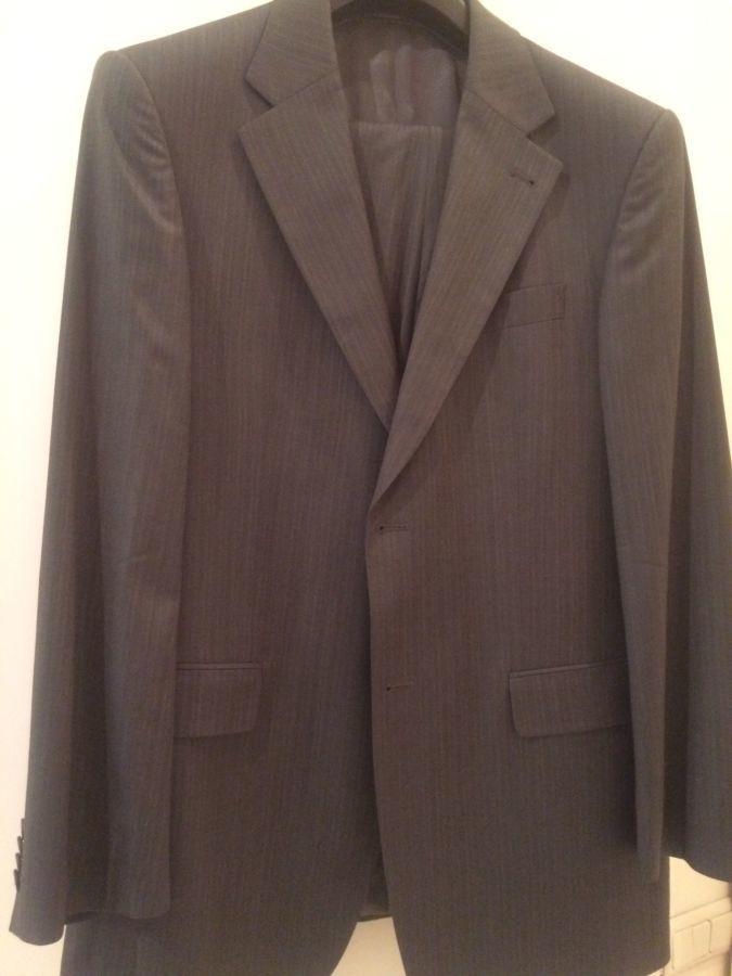 Костюм мужской серый, Италия, фирмы Graft, size 50