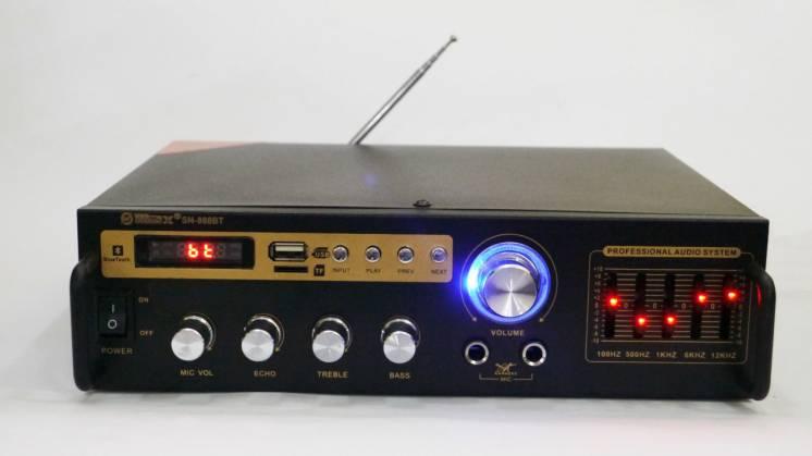 Усилитель Max Sn-888bt Bluetooth + караоке 2 микрофона