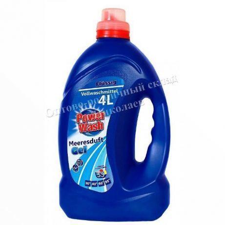 Гель для стирки Power wash 4 литра/ жидкий порошок Повер Павер вош