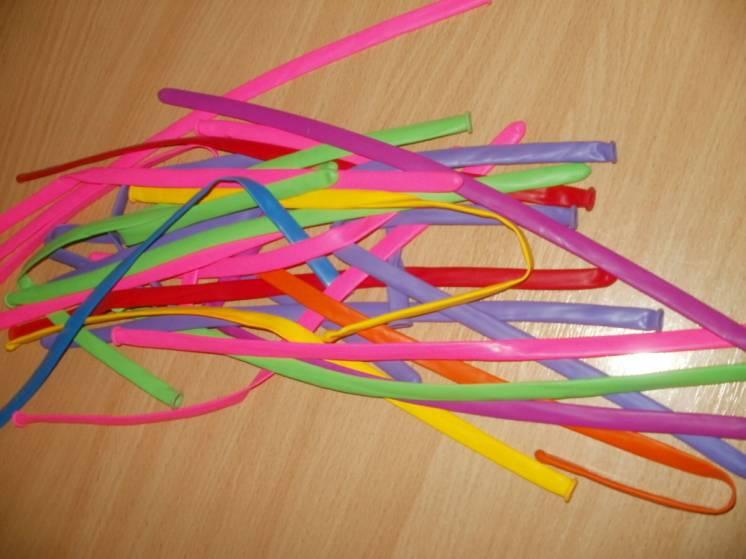 Шарики надувные разноцветные для моделирования