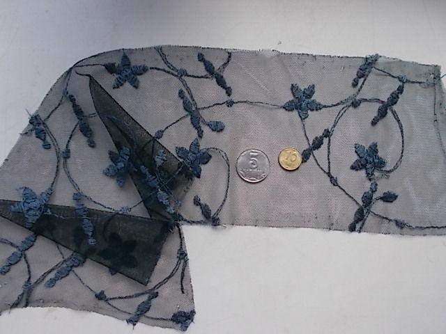 Ткань кружева тюль с вышивкой, For Hand Made, рукоделия