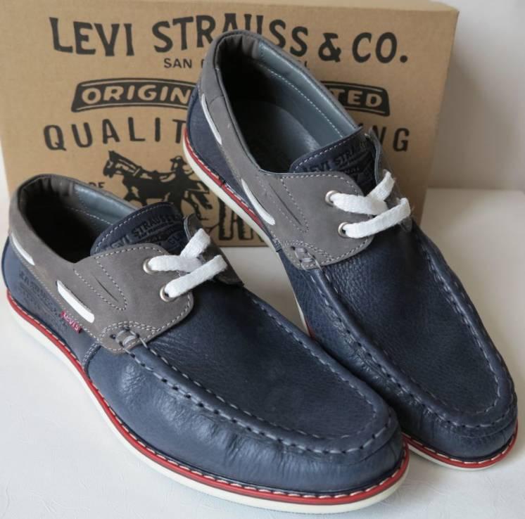 Levis Boat Sider туфли мужские весна лето осень кожа топсайдеры стиль
