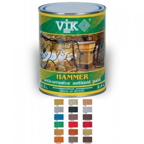 Молотковая краска Vik hammer, хамрайт, краска для ворот