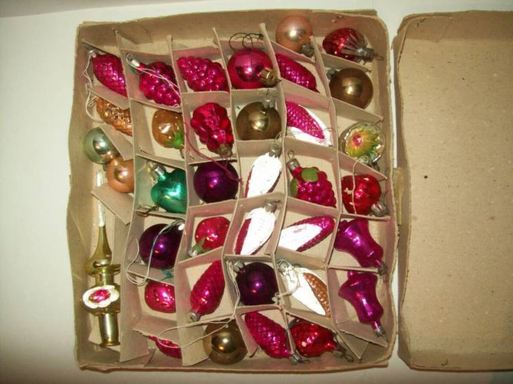 Елочные ёлочные игрушки набор Малютка №2 времён СССР