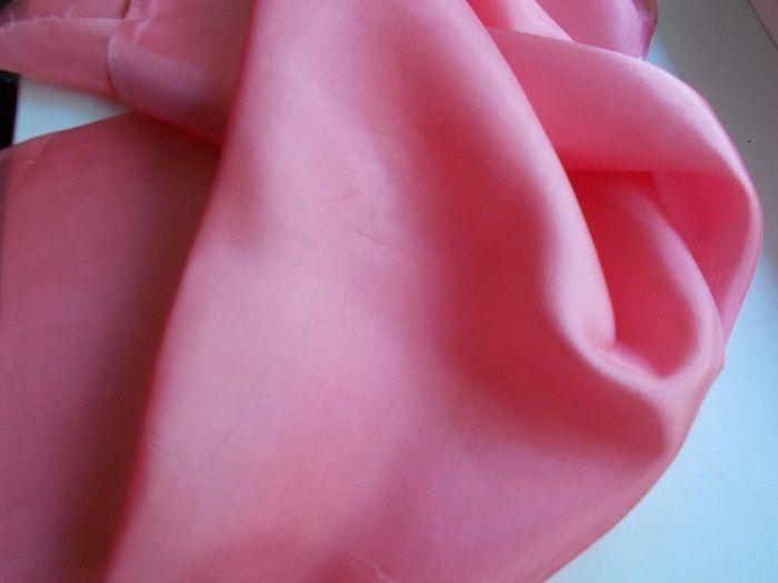 Шелк розово-коралловый для кукол,костюмов для детских праздников и т.п