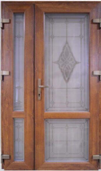 Вхідні металопластикові двері - HPL / WDS7