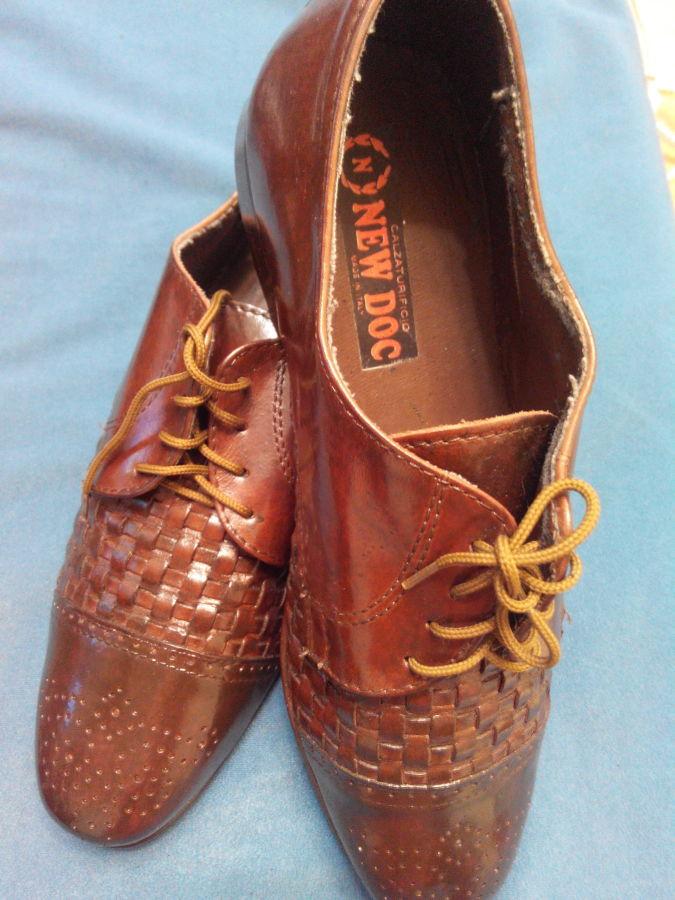Новые кожаные итальянские туфли