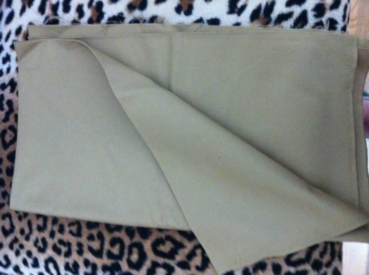 Плащевая ткань диагональ хлопок (0.9х1.95м), желто-коричневая